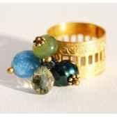bague santa fe bleu vert les joyaux de la couronne