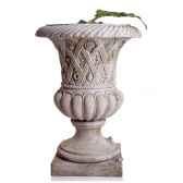 vases modele spring urn surface pierres romaine combines au fer bs2131ros iro