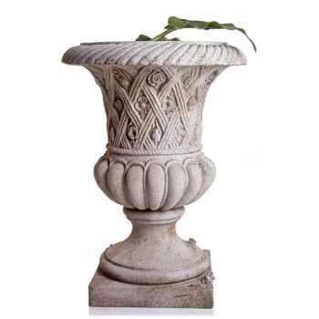 Vases-Modèle Spring Urn, surface pierres romaine combinés au fer-bs2131ros/iro