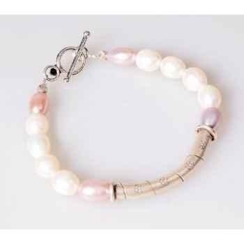 Bracelet SAHEL perles blanches Les Joyaux de la Couronne