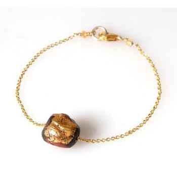 Bracelet SAHEL perles Boudha chaîne vermeil Les Joyaux de la Couronne