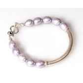 bracelet saheperles grises les joyaux de la couronne