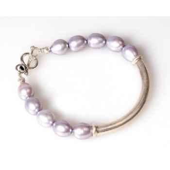 Bracelet SAHEL perles grises Les Joyaux de la Couronne