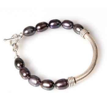 Bracelet SAHEL perles noires Les Joyaux de la Couronne