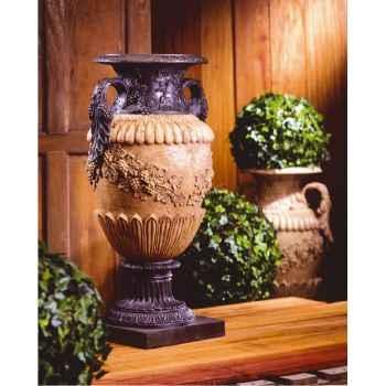 Vases-Modèle Roman Vase, surface pierres romaine combinés au fer-bs2116ros/iro
