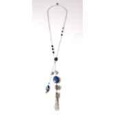 collier cravate santa fe lapis lazuli les joyaux de la couronne