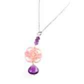 collier dentelle nacre abalone rose amethyste les joyaux de la couronne