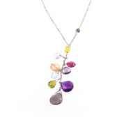 collier epi pierres fines multicolores et argent les joyaux de la couronne