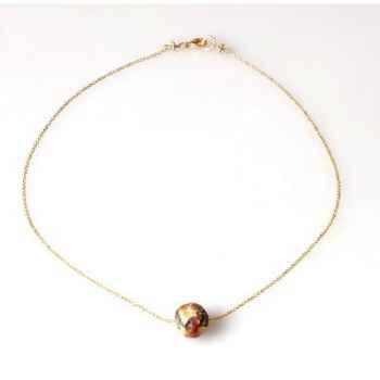 Collier SAHEL perles Boudha chaîne vermeil Les Joyaux de la Couronne