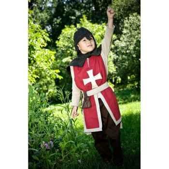 Tunique réversible pour costume chevalier Albert le Grand 3-5 ans et accessoire