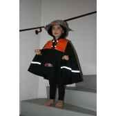 costume poncho pompier 3 5 ans