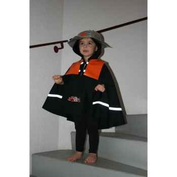 Costume Poncho Pompier 3-5 ans