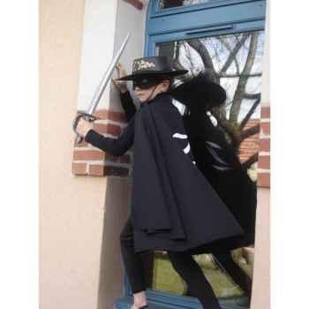 Cape pour costume Zorro Z 6-8 ans