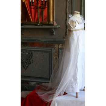 Accessoire Traine de tulle mariée pour costume Impératrice TU