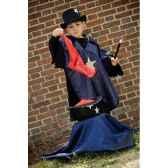 costume poncho magicien 6 8 ans