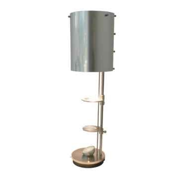 Lampe de projection Miss Scope Argent Brossé Designheure -msab