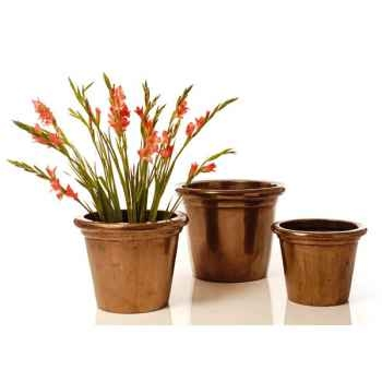 Vases-Modèle Grower Pot  Large,  surface granite-bs3174gry