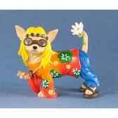 figurine chien chihuahua fleur 13383
