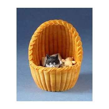 Figurine Chat Dubout Nid douillet -DUB50