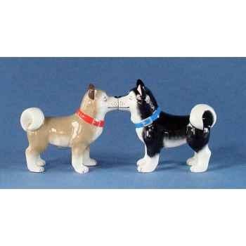 Figurine Huskies Poivre et Sel MW93930