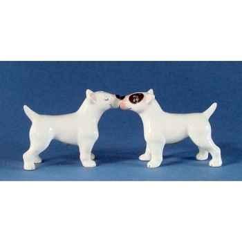Figurine miniature Bull Terriers Poivre et Sel MW93932