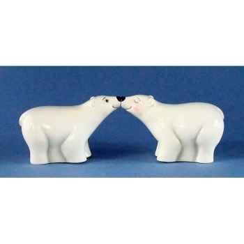Figurine Ours Polaire Poivre et Sel MW93933