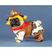 figurine chien carlin pug nacious cowgirpug16162