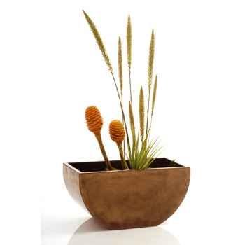 Vases-Modèle Tawi Bowl, surface bronze nouveau-bs3206nb