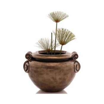 Vases-Modèle Vigan Planter Junior, surface bronze avec vert-de-gris-bs3213vb