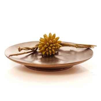Vases-Modèle Koan Dish, surface bronze nouveau-bs3221nb