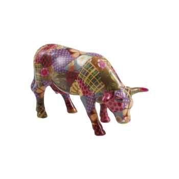 Vache Cow Parade céramique Patch Work Suit MMC47381