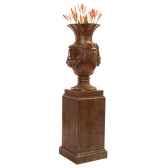 vases modele brussels urn surface bronze avec vert de gris bs3223vb