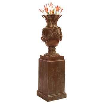 Vases-Modèle Brüssels Urn, surface bronze avec vert-de-gris-bs3223vb