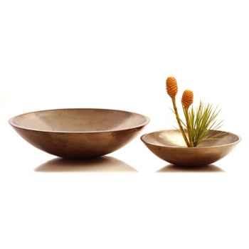 Vases-Modèle Kawa Bowl, surface aluminium-bs3229alu