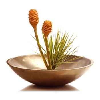 Vases-Modèle Kawa Bowl, surface bronze nouveau-bs3229nb