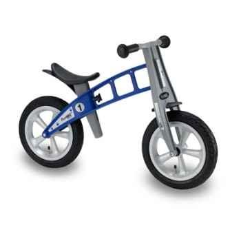 Vélo draisienne FirstBIKE STREET bleu sans frein, pneus à air