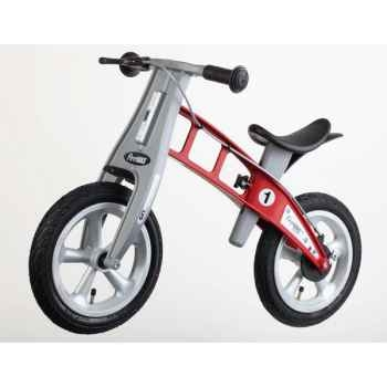 Vélo draisienne FirstBIKE STREET rouge avec frein, pneus à air