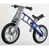 velo draisienne firstbike street bleu avec frein pneus a air