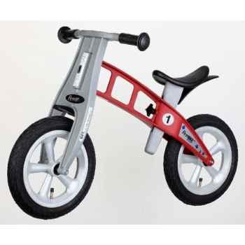 Vélo draisienne FirstBIKE STREET rouge sans frein, pneus PU