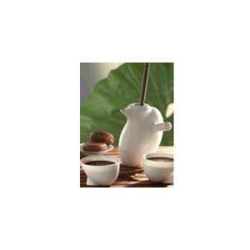 """Daudi-Chocolatière-Chocolatière modèle """"Ovéade"""", chocolatière avec 2 tasses."""
