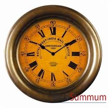Horloge Murale, Toile & Laiton -SC039