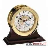 socle acajou pour horloge sc044