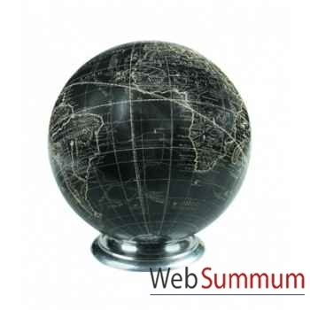 Globe Vaugondy, Noir/socle -GL211A