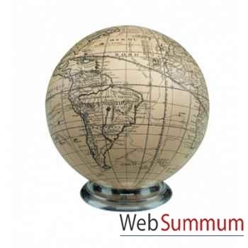 Globe Vaugondy, Ivoire/socle -GL212A
