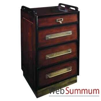 Cabinet à roues, Noir -MF018