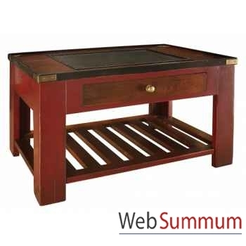 Table basse Collector, Rouge -MF057