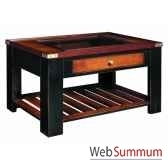 table basse collector noir mf058