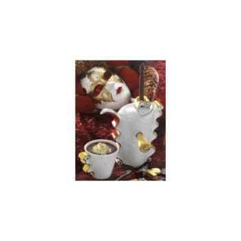 "Daudi-Chocolatière-Chocolatière modèle ""Roma"", chocolatière avec 2 tasses."