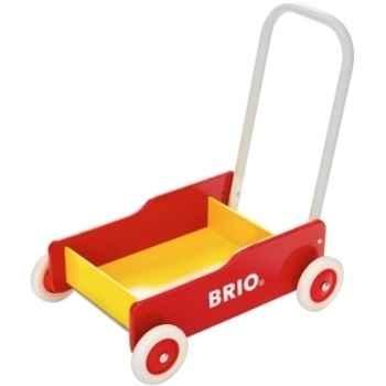 Chariot de marche rouge & jaune (avec frein) - Jouet Brio 31350000