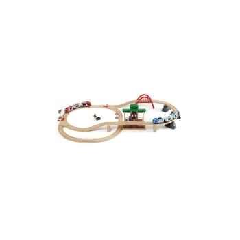 Circuit plateforme voyageurs - Jouet Brio 33512000